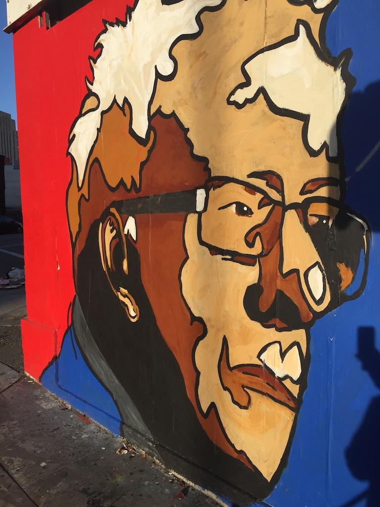 They love Bernie Downtown