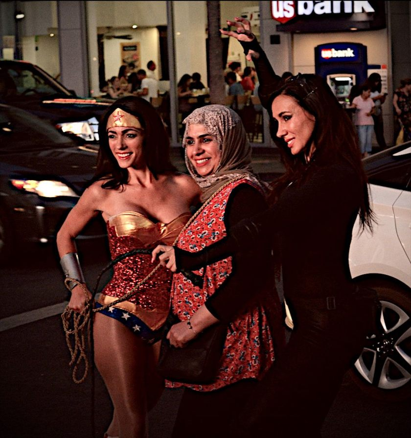 Wonder Woman and Muslima, Hollywood Blvd