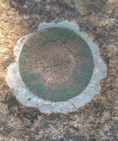 USGS Summit Marker on Hadley Mountain