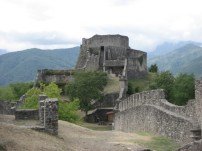 Inside the fortress of Verrucole, in Garfagnana - on holiday 2008