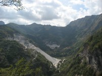 Marble quarry in the Alpi Apuane - on holiday 2008