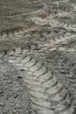 Tractor tracks turning