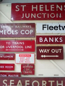 Detail of British Railways signs