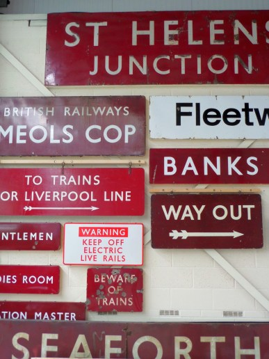 Detail of British Railways signs
