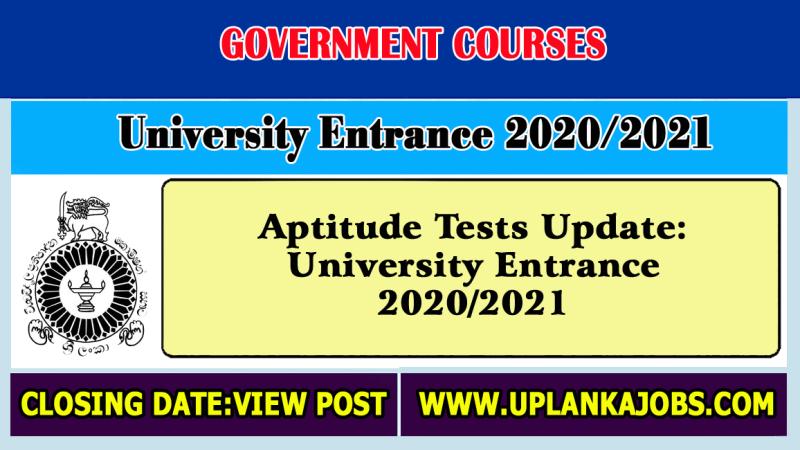 Aptitude Tests:University Entrance 2020/2021