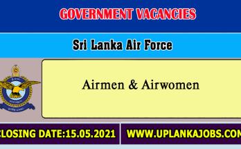 Sri Lanka Air Force Vacancies 2021
