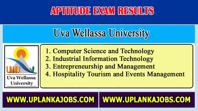 Uva wellassa university aptitude results 2021