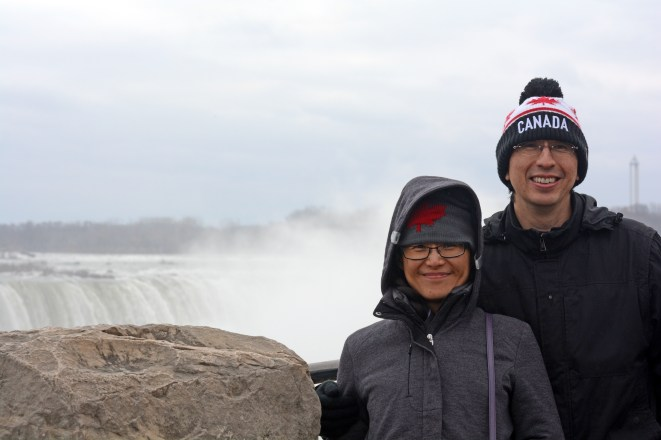In front of the Niagara Falls