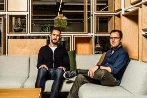 The creators of Instagram, Kevin Systrom and Mike Krieger