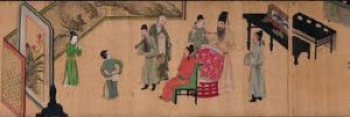 唐寅体现夏的代表作品之一《临韩 载夜宴图》(辽宁文物))