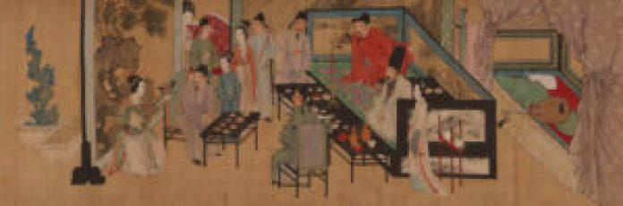 唐寅体现夏的代表作品之一《临韩 载夜宴图》(苏州博物馆)