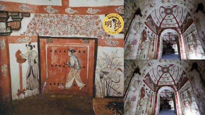 菜窖里发现古墓有一桌酒席, 墓墙上题字令人感慨,墓主竟是一个文艺少年 (明德合成)