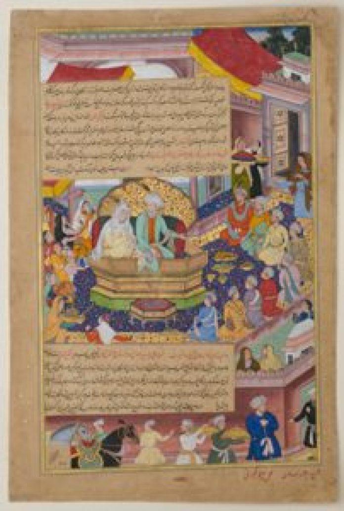成吉思汗和他的祖先Tumanba Khan、孛兒帖以及他的九個兒子。(公有領域)