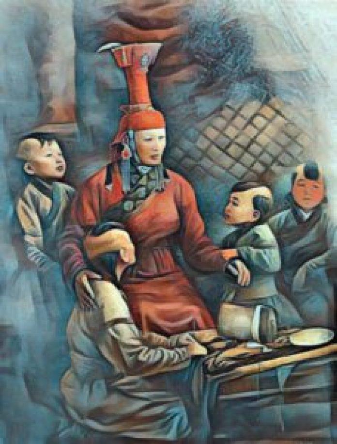 訶額侖和四個養子。(KoizumiBS/Wikimedia Commons提供)