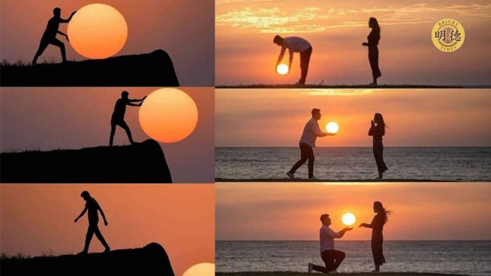 印度一位20岁的摄影师玩日落讲述美丽的故事(明德合成)