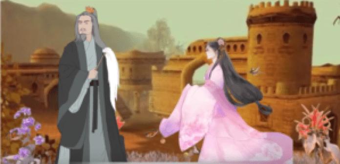 公主去见国师。国师没有让公主说话(视频截图)