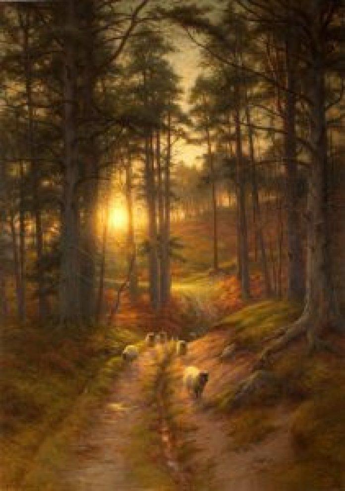 农村生活和家乡丹麦茂密森林的描绘(fineartamerica.com/pin)