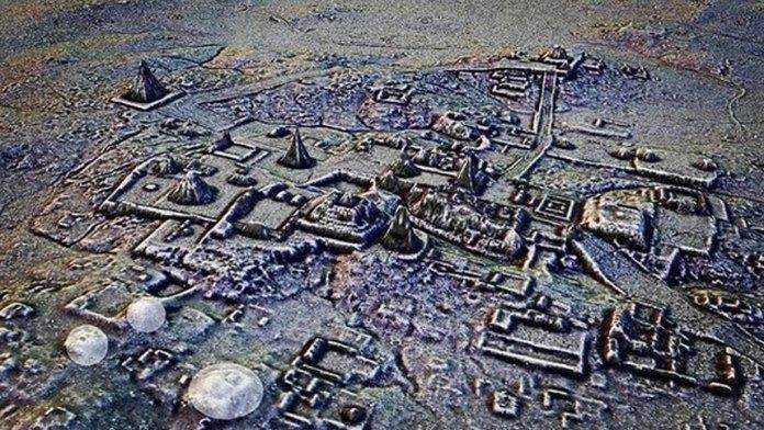 玛雅城市发现著名的特奥蒂瓦坎建筑的副本(ins)