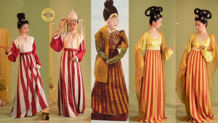 【中國傳統服裝】唐朝服装简史(明德合成)