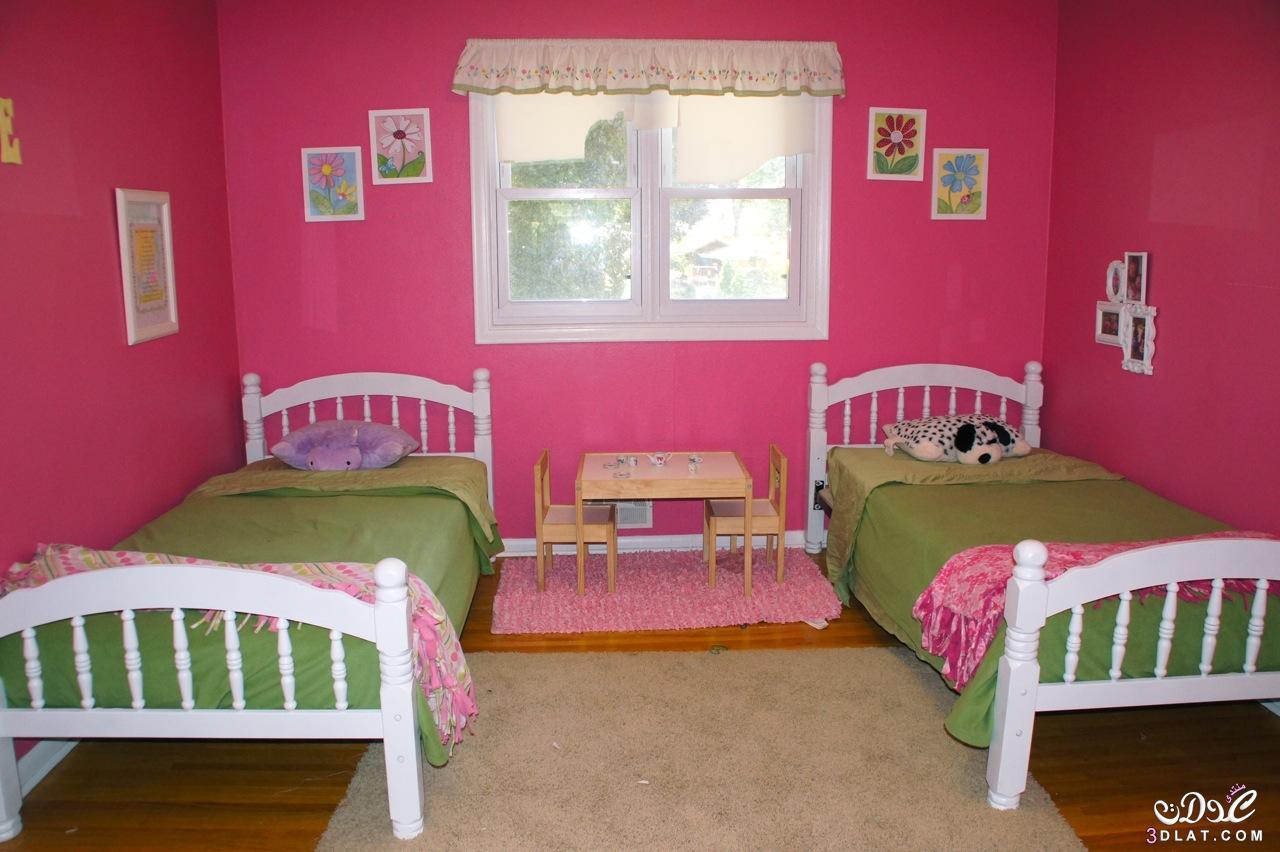 غرف نوم اطفال بسريرين 2020 احدث غرف الاطفال بسريرين2020 غرف