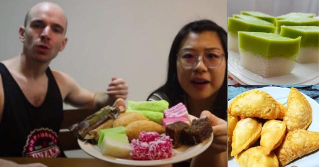 pasangan Kanada cuba kuih muih Melayu