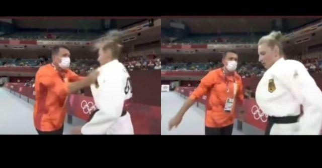 atlet judo ditampar