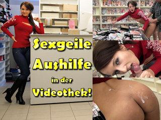 DirtyAnja - Sexgeile Aushilfe in der Videothek
