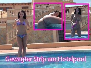DirtyAnja - Gewagter Strip am Hotelpool