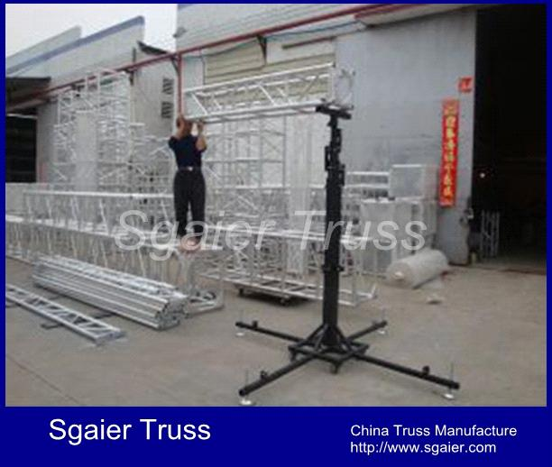 stage lighting crank stand for truss