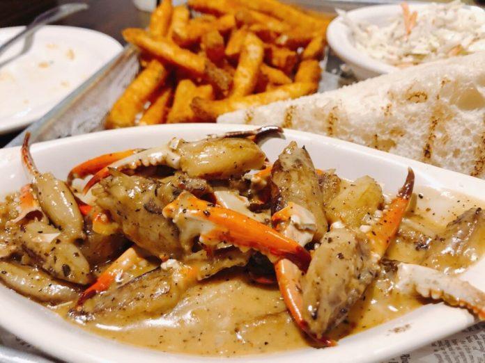 Crab legs in Gulf Shores, Alabama.