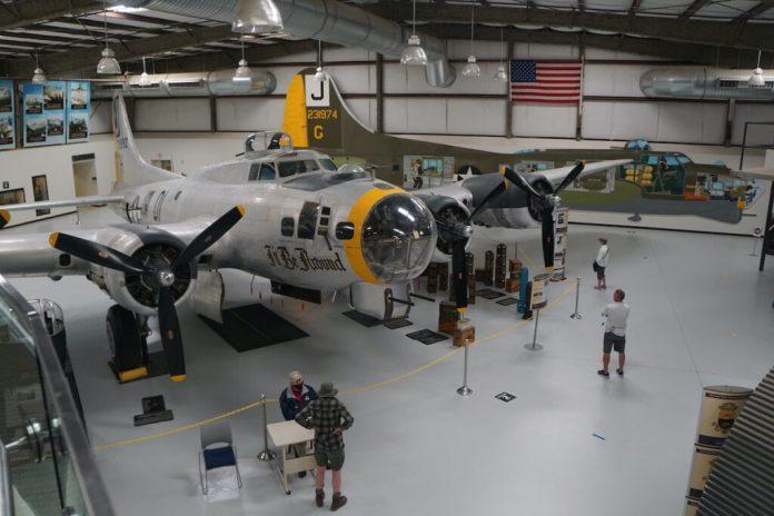 Interior of the Pima Air & Space Museum, Tucson.