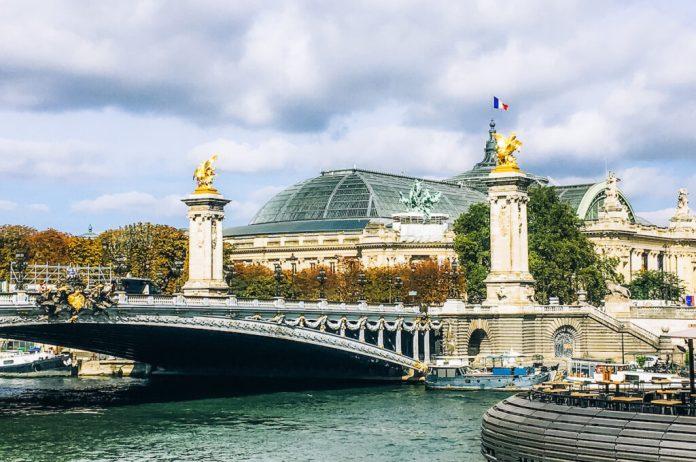 Pont Alexandre III in Paris, France.