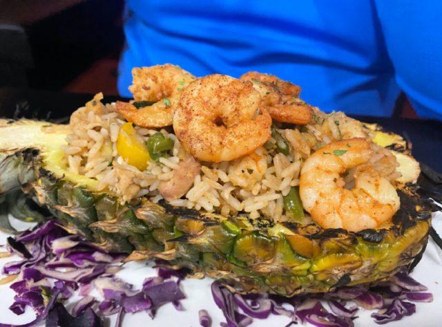Shrimp fried rice at Crab Stop.