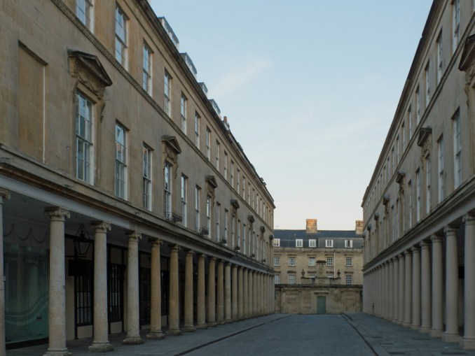 The colonnades of Bath Street