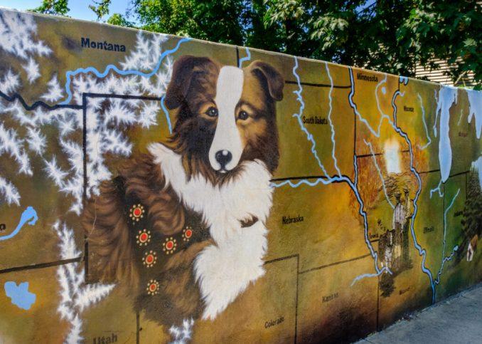 Bobbie the Wonder Dog mural in Silverton.