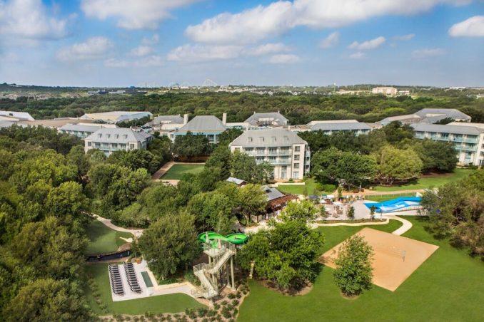 View of the Hyatt Regency Hill Country Resort.