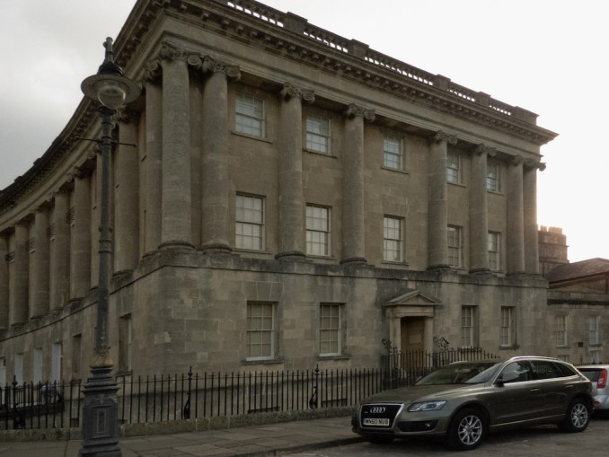 No 1 Royal Crescent became the exterior of the Featheringtons' town house (Photo credit: Kathleen Walls)