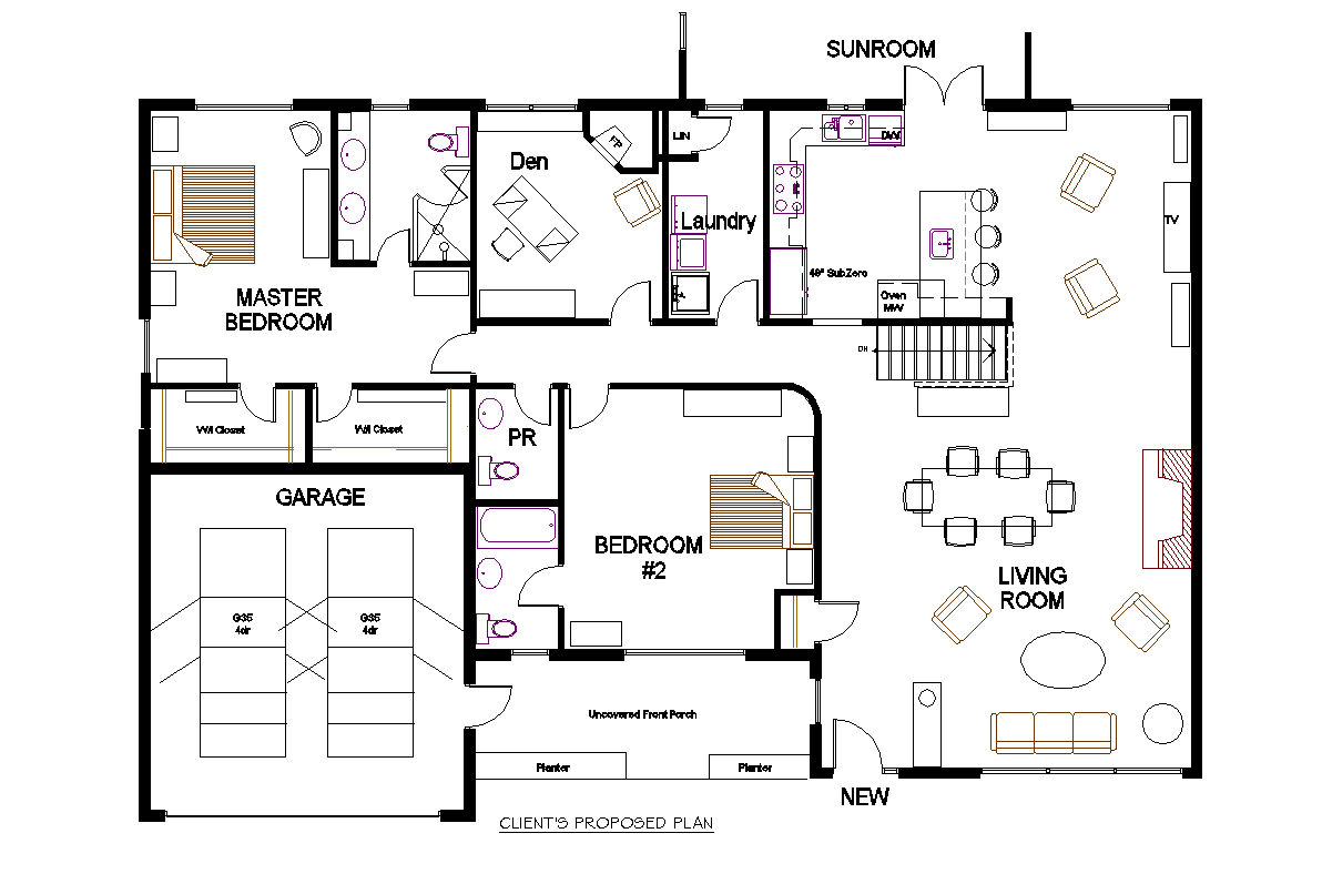 Bungalow Open Concept Floor Plans Small Open Concept