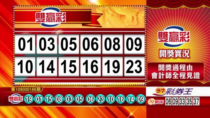 雙贏彩中獎號碼》第109000166期 民國109年7月11日 《#雙贏彩 #樂透彩開獎號碼》