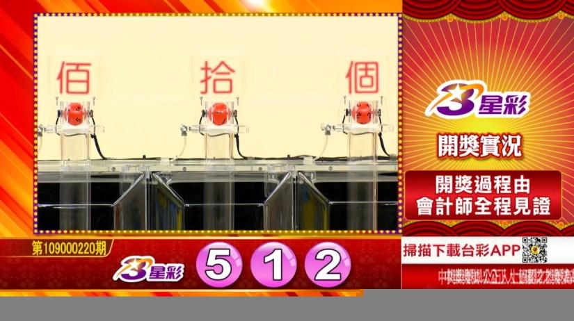 3星彩中獎號碼》第109000220期 民國109年9月12日 《#3星彩 #樂透彩開獎號碼》