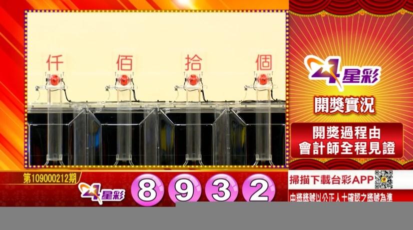 4星彩中獎號碼》第109000212期 民國109年9月3日 《#4星彩 #樂透彩開獎號碼》