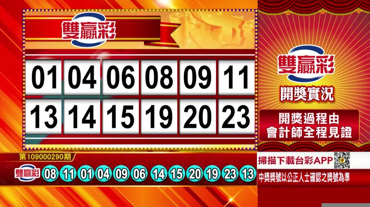 💰雙贏彩中獎號碼💰第109000290期 民國109年12月3日 《#雙贏彩 #樂透彩開獎號碼》