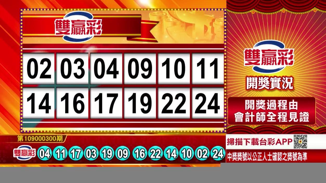 💰雙贏彩中獎號碼💰第109000300期 民國109年12月15日 《#雙贏彩 #樂透彩開獎號碼》