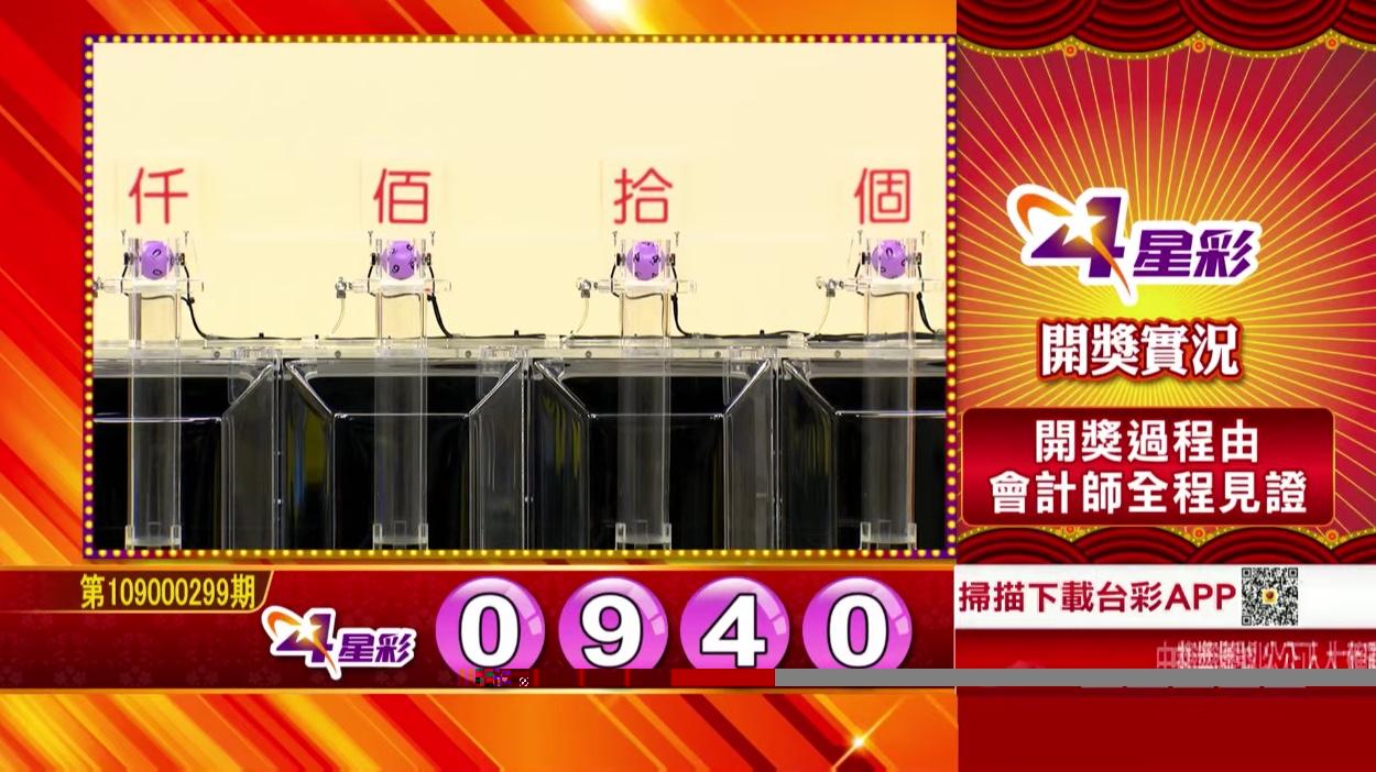 💰4星彩中獎號碼💰第109000299期 民國109年12月14日 《#4星彩 #樂透彩開獎號碼》