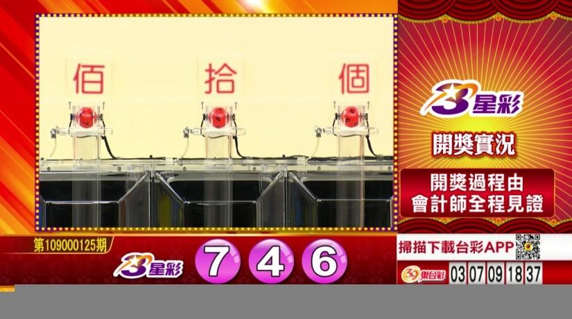 3星彩中獎號碼》第109000125期 民國109年5月25日 《#3星彩 #樂透彩開獎號碼》