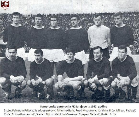 Image result for Šampionski tim sarajeva 1967
