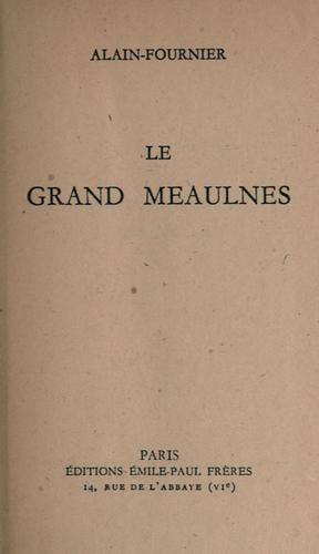 English: Le Grand Meaulnes Old Cover