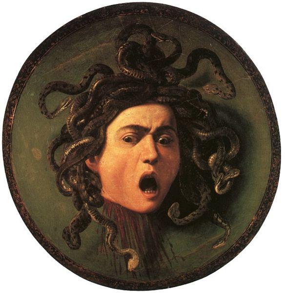Medusa de Caravaggio, Uffizi.