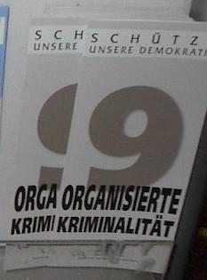 English: Organized crime brochure