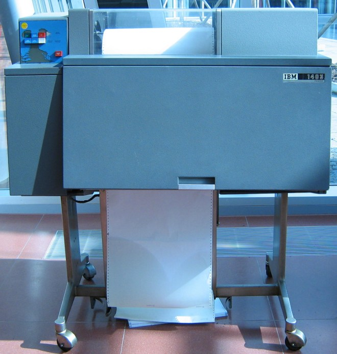 IBM 1403 Line Printer, Photo by waelder CC BY 2.5
